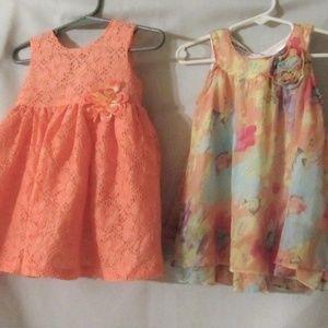 Lot of 2 Girls Blueberri Boulevard Summer Dresses